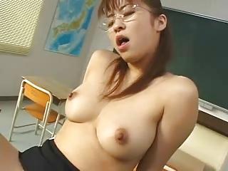Pretty Glum Japanese Teacher's Hot Victorian Cunt Fucked