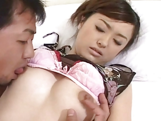 Handsome Japanese girl's off colour Victorian cunt fucked & creampied