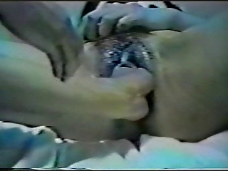 KIMIKO Asian double pussy fisting and colossal dildo!
