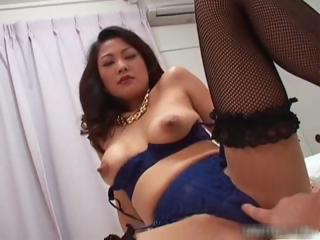 Busty japanese girl nearly lingerie sucking part4