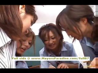 Japanese AV cookie in school uniform hardcore orgy