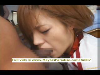 Azusa Itagaki innocentasian girl enjoys gross fucked fixed