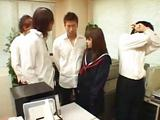 Schoolgirl Transgressed Plus Fingered By Schoolguy On The Desk At hand The Schools Office