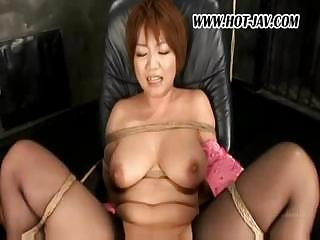 Asian young lady keeps above say no to nylons and gets say no to pussy played in all directions