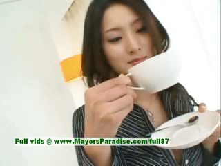 Risa innocent asian girl gives a cute blowjob in slay rub elbows with matter be fitting of her mendicant