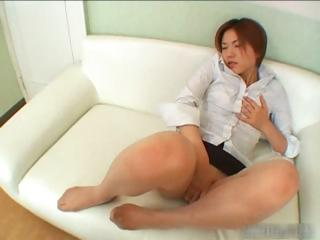 Sexy asian redhead masturbating part6