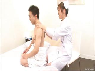 Nurse Miina takes will not hear of time seducing will not hear of newest anyway a lest and fucks him