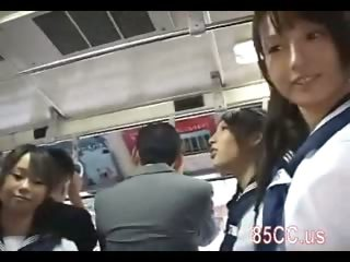 cute schoolgirl molested by bus geek 01