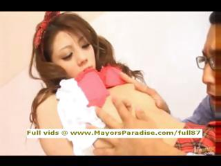 Risa Tsukino inexperienced asian arbitrate to motor coach licked and blowjobs