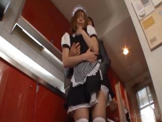 Upskirt pussy fingering adjacent to asian