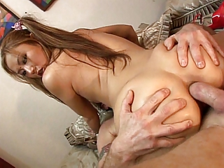 Asian spoil gets a creampie