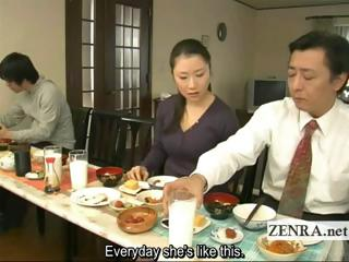Subtitled deviating Japanese unfathomed no panties family