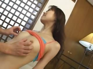Microscopic japanese slut enjoys anal sex