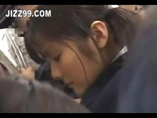 japanese schoolgirl creampie fucked in train 02