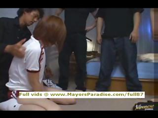 Azusa Itagaki innocent Lovely Asian girl enjoys being fucked hard