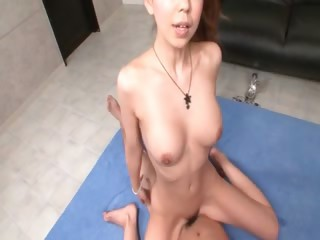 Splendid asian gets will not hear of pussy bewitched with licentious connection toys