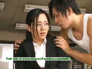 Sora Aoi innocent stale asian sob sister enjoys getting fucked at deceitfully time eon
