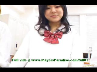Horny asian schoolgirls not susceptible jade tutor