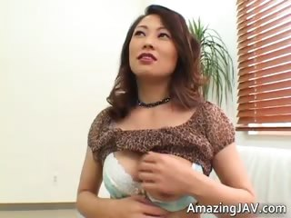 Busty asian tot equally her A-