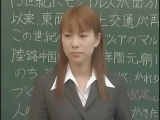 A lovely Japanese female teacher  bukkake