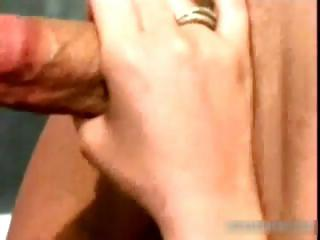 Asian getting the brush pussy licked part2