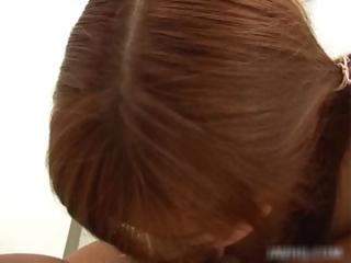 Japenese redhead encircling full of life tits gets part4