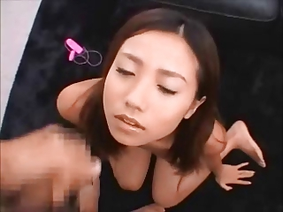 Asian coupled at hand Japanese Facial Compilation