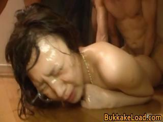 Haruka Sasai Asian babe in bukkake part5