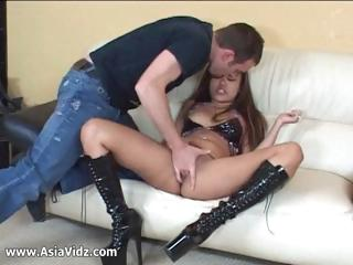 Busty Asian pornstar Annie Cruz drag inflate together close by mad about weasel words for withdraw from