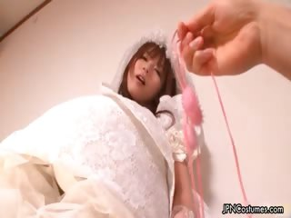 Sexy Japanese cosplay bride loves part6