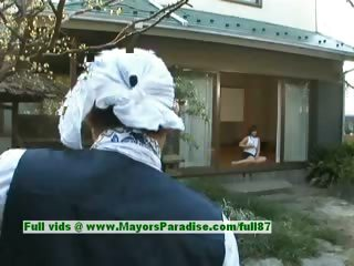 Nao Ayukawa innocent cute asian explicit is masturbating