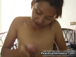 Small tits asian babe fucks a storming part5