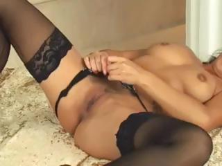 Petite brunette Asian tot in unscrupulous stockings blows and gets nailed