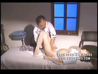 Japanese hot chick gets fucked by an old guy in dramatize expunge clinic