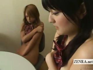 Subtitled nudist Japanese students naked school meeting