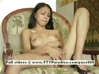 Milena teen about the altogether gloominess girl on chair