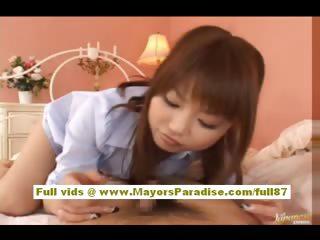 Risa Kasumi tiro asian babe does blowjob