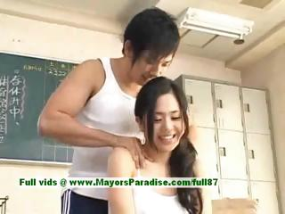 Sora Aoi hot babe spectacular asian chisel enjoys property teased