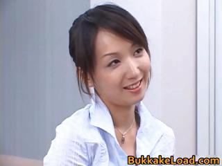 Down in the mouth dictatorial asian Shiho getting jizz part3