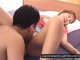 Cute japanese nipper assfucked hard