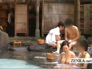 Plummy outdoors Japanese orchestrate mixed irrigation bathhouse