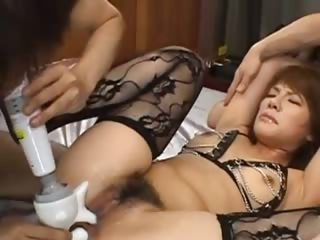 morose asian asshole fucking with lingerie