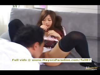 Miyu Hoshino unpractised Chinese schoolgirl being crushed