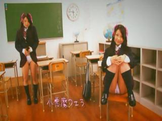 Japanese schoolgirl gets fingered, fucked, plus a chunky millstone for cum