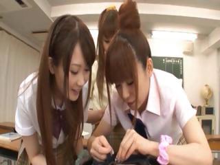 Asian schoolgirls taking horny Hawkshaw