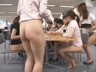 Good-looking Asian secretaries are working part2