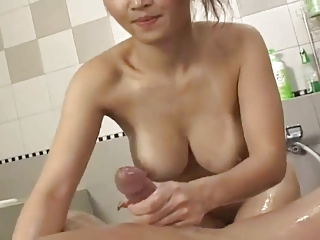 Pretty erotic Japanese girl's hot Victorian cunt fucked