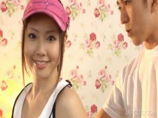 Asian slut bustling famous schlong