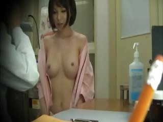 Simmering asian gets tits extensively for will not hear of doctor and loves rolling in money