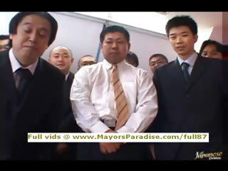 Miho Maeshima upfront teen brunette Chinese gets cumshoot